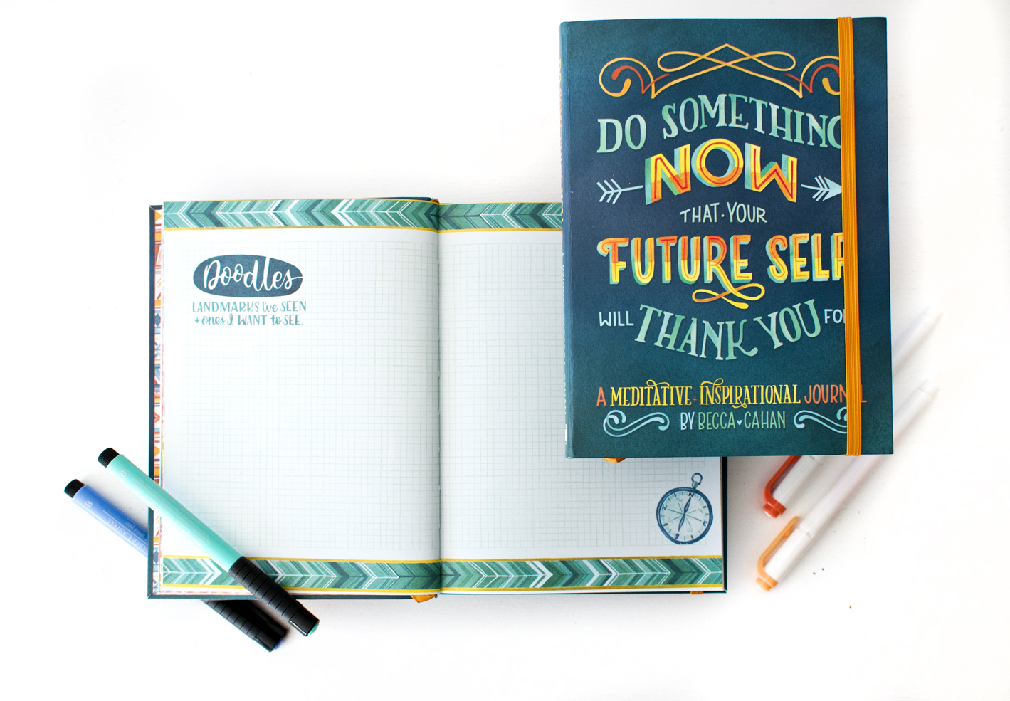 """""""Do Something Now"""" Sellers Publishing Journal Illustrated by Becca Cahan as seen on Beccacahan.com"""