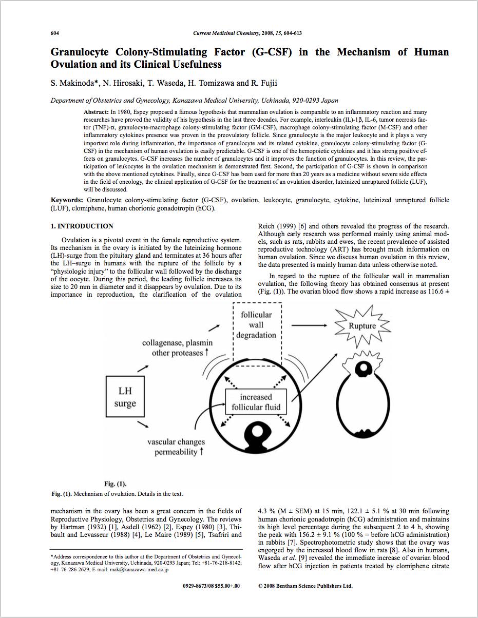 Curr Med Chem. 2008;15(6):604-13. Review. - Makinoda S, Hirosaki N, Waseda T, Tomizawa H, Fujii R.