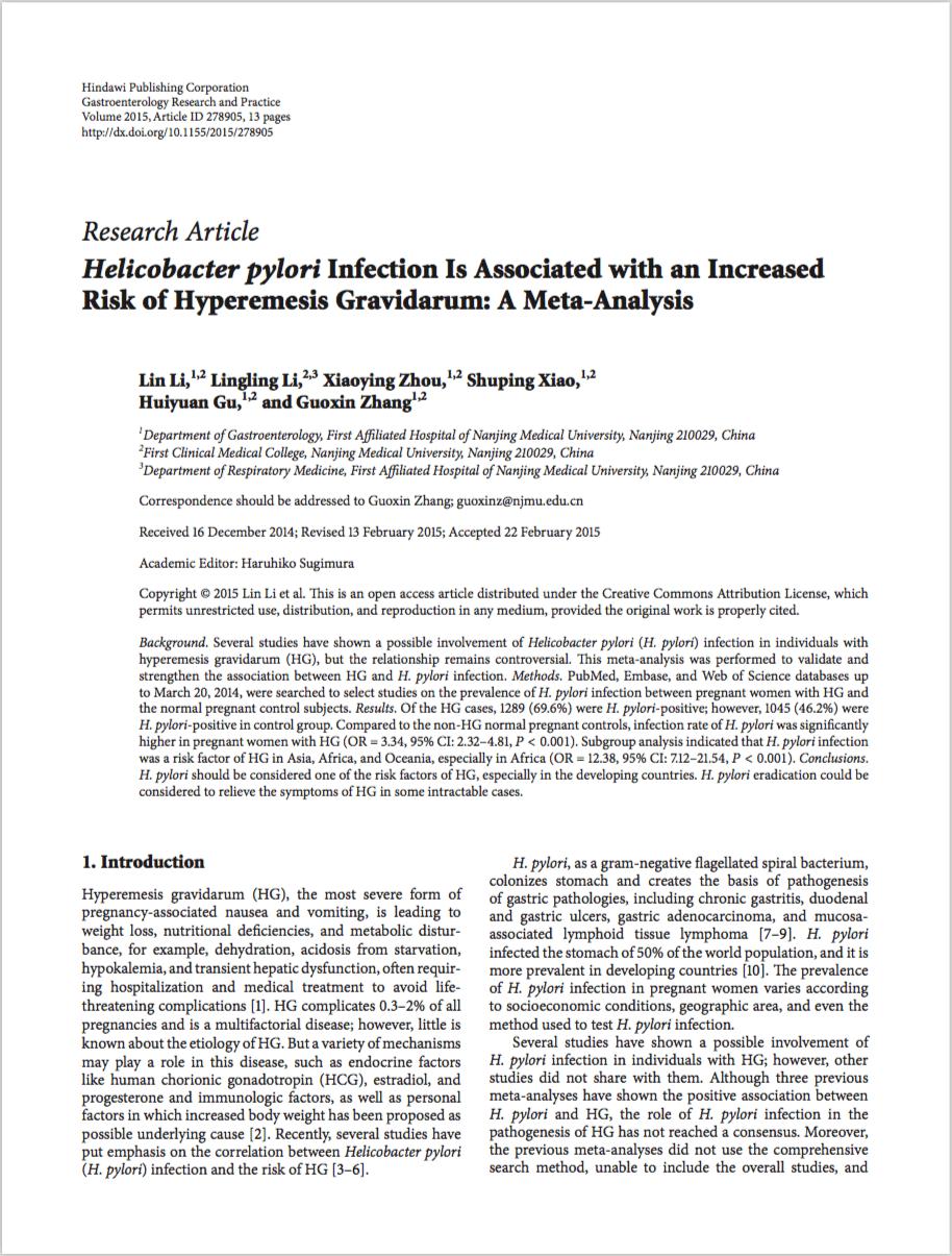 Gastroenterol Res Pract. 2015;2015:278905. - Li L, Li L, Zhou X, Xiao S, Gu H, Zhang G.