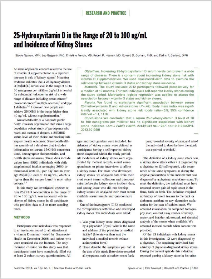 Am J Public Health. 2014 Sep;104(9):1783-7. - Nguyen S, Baggerly L, French C, Heaney RP, Gorham ED, Garland CF.