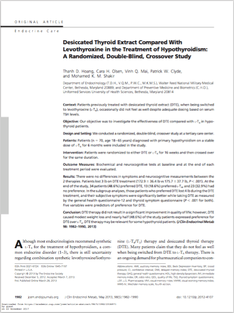 J Clin Endocrinol Metab. 2013 May;98(5):1982-90. - Hoang TD, Olsen CH, Mai VQ, Clyde PW, Shakir MK.