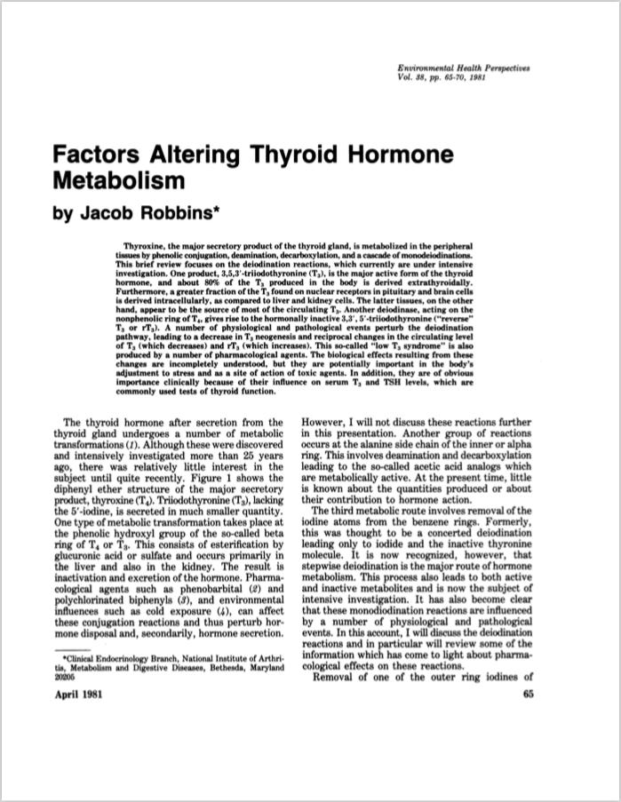 Environ Health Perspect. 1981 Apr;38:65-70. - Robbins J.