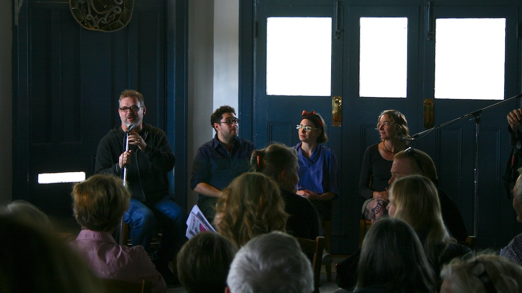 Andrew Frost & artist panel at the Railway Hotel, Kandos.