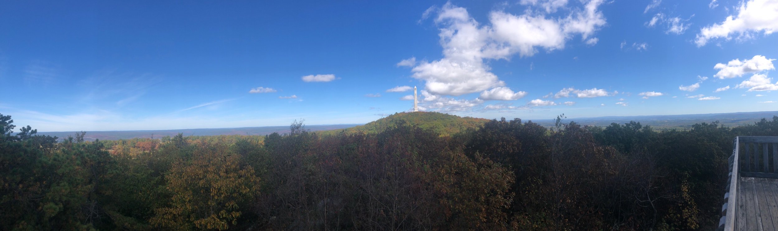 The View Atop High Point with the Vetrans Memorial