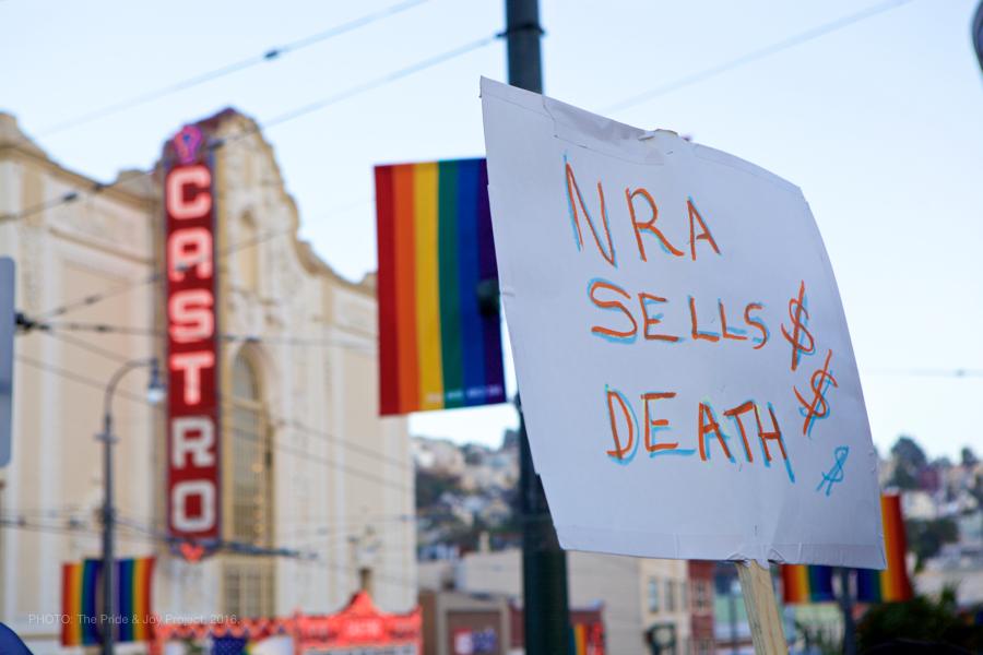 NRA SELLS DEATH $$ © Kersh Branz, 2016.
