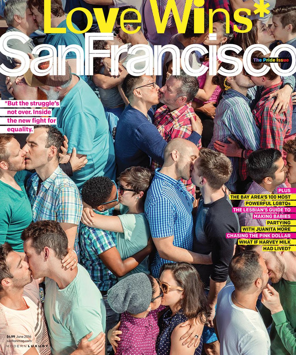 San Francisco Magazine, June 2016 cover.