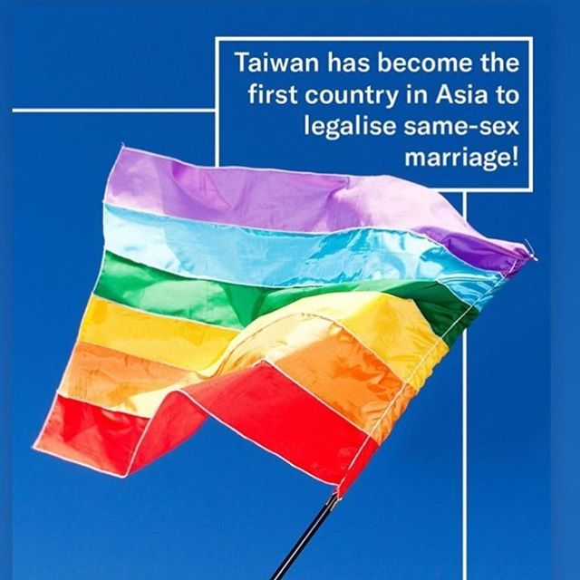 Congratulations Taiwan! #marriageequality #lovewins #victory #lgbtqia #hope #asia #taiwan #marriage #love #🏳️‍🌈 #queerpride (Image via @gaytimes) 🏳️‍🌈✨🥰