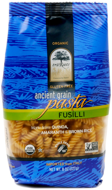 This is a SUPER tasty pasta! I love that it uses Gluten- Free Grains, but that they are also WHOLE GRAIN - that's not easy to find. Plus, the blend of Quinoa, Amaranth & Brown RIce makes for a much higher protein pasta.