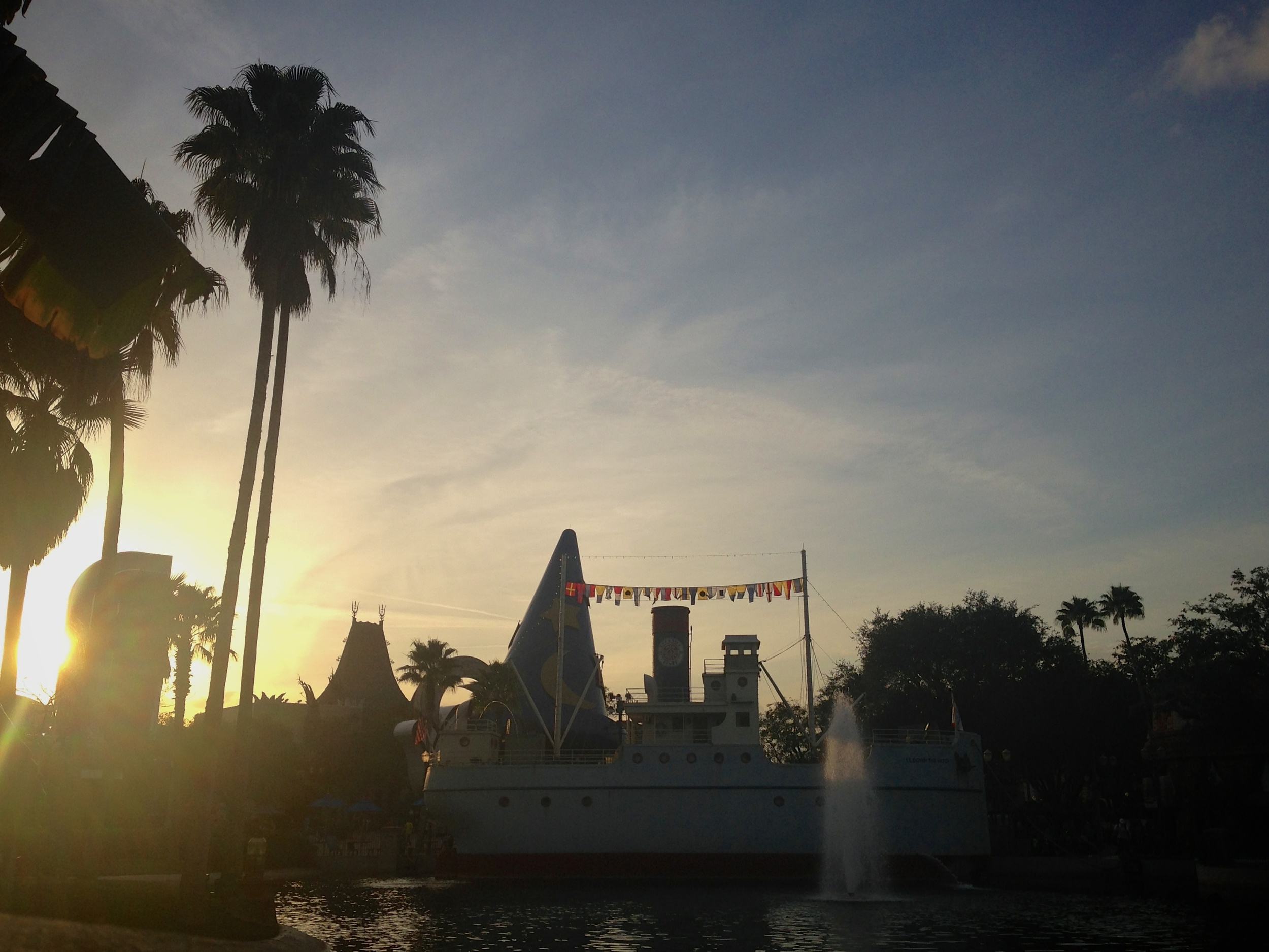 Dusk at Disney's Hollywood Studios.