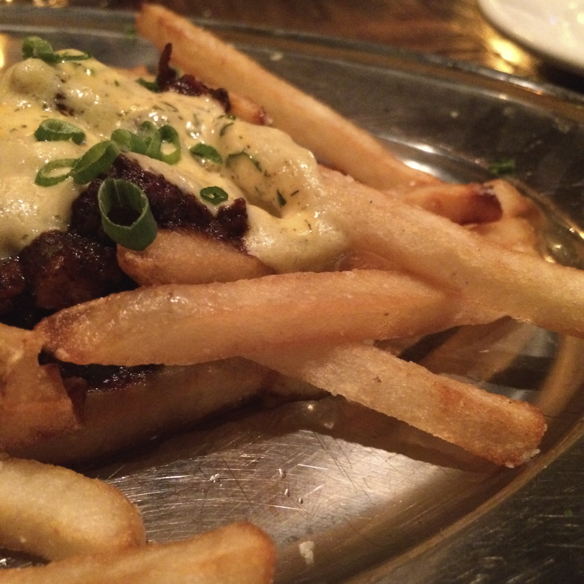 Train wreck fries were a highlight of the meal.