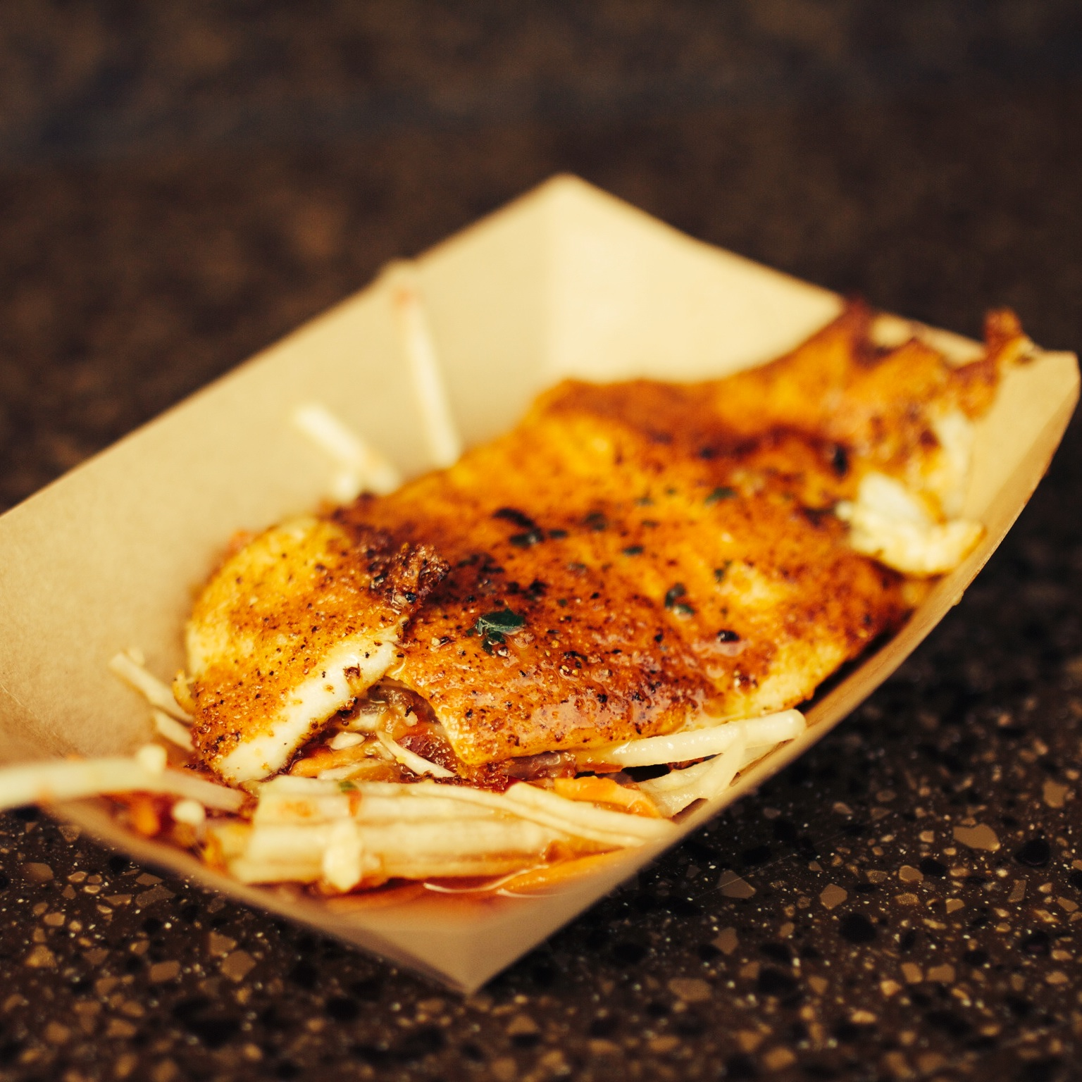 The Epcot International Food & Wine Festival is one of my favorite events at Walt Disney World! At this year's Flower & Garden Festival, we tried the ghost pepper dusted talapia and it was outstanding! I'm hoping some form of this dish makes an appearance at F&W. It's high on my list!