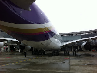 View of the rear fuselage of the A380