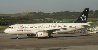Spanair Airbus in Star Alliance livery