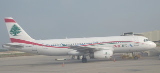 A MEA A320 at Beirut airport