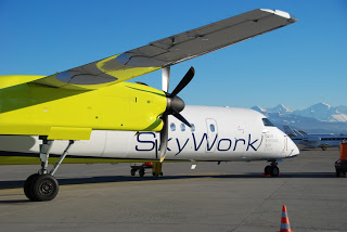 Skywork, a small Swiss regional carrier flying turboprops out of Berne, Picture: Skywork