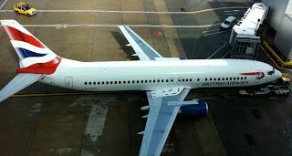 A British Airways Boeing 737 at London Gatwick airport