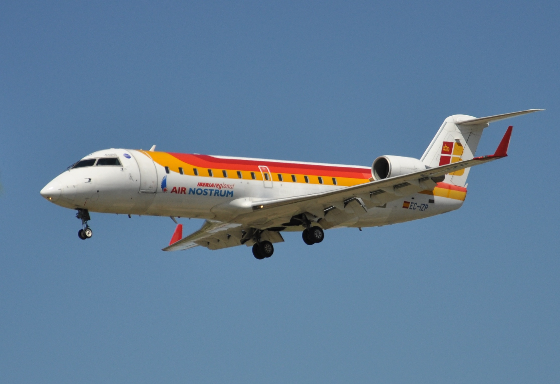 Denim Air used to operate 14 aircraft on behalf of Air Nostrum, although they were not CRJ200s like this one but Bombardier Dash 8 Q300 instead. Picture:  Pau Cuevas