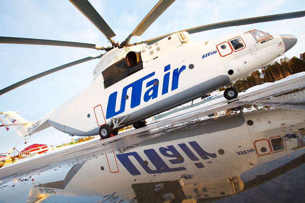 With helicopters like the Mil Mi-26, UTair has the largest civilian hecliopter fleet by lift capacity in the World