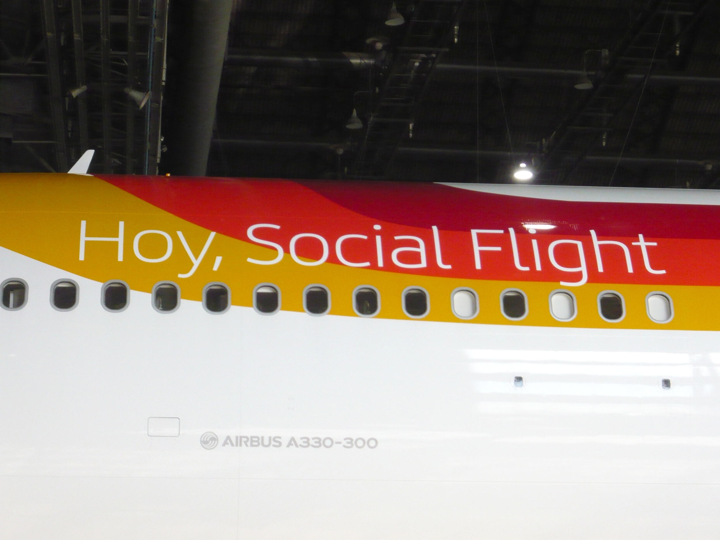 Promoting Iberia's social flight on one of Iberia's new Airbus A330-300
