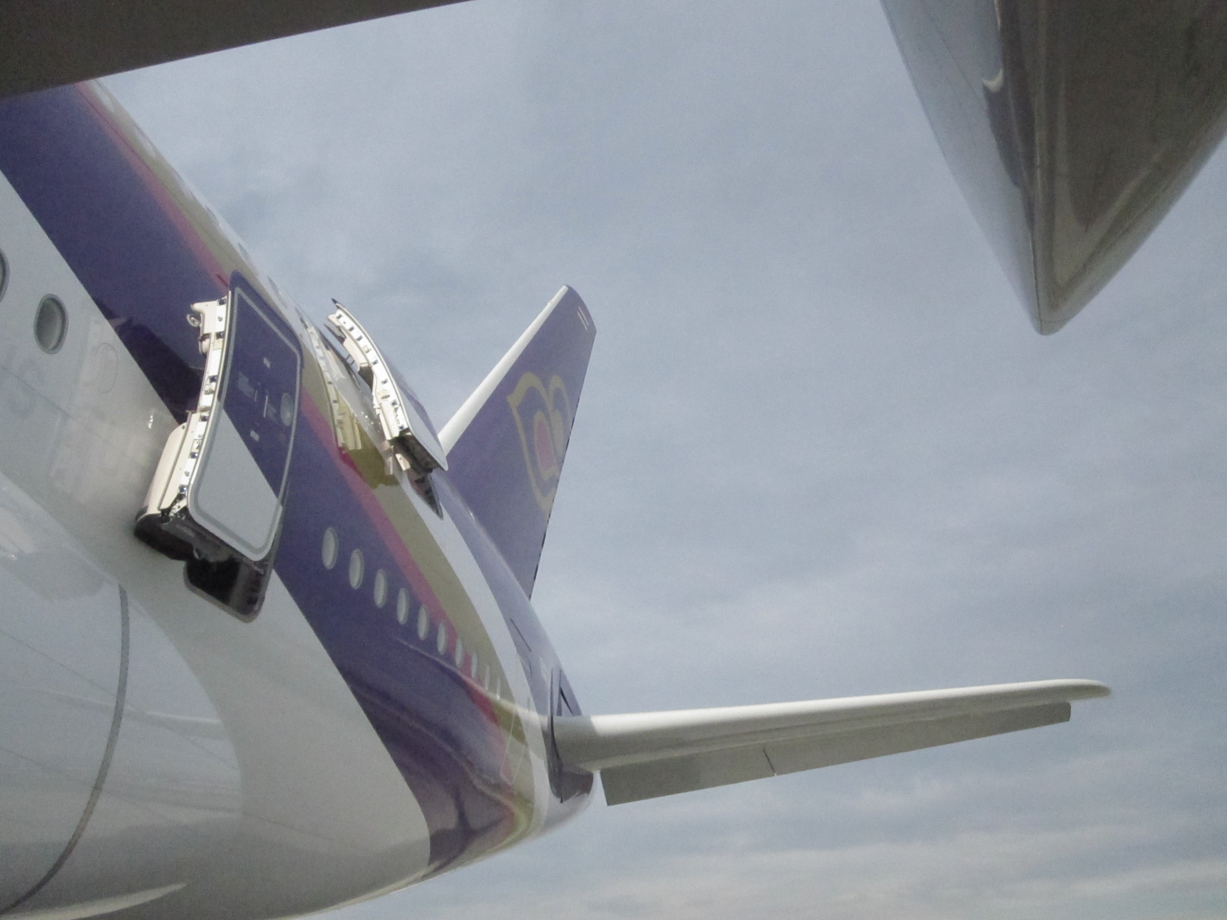 Thai Airways' logo from an unusual angle