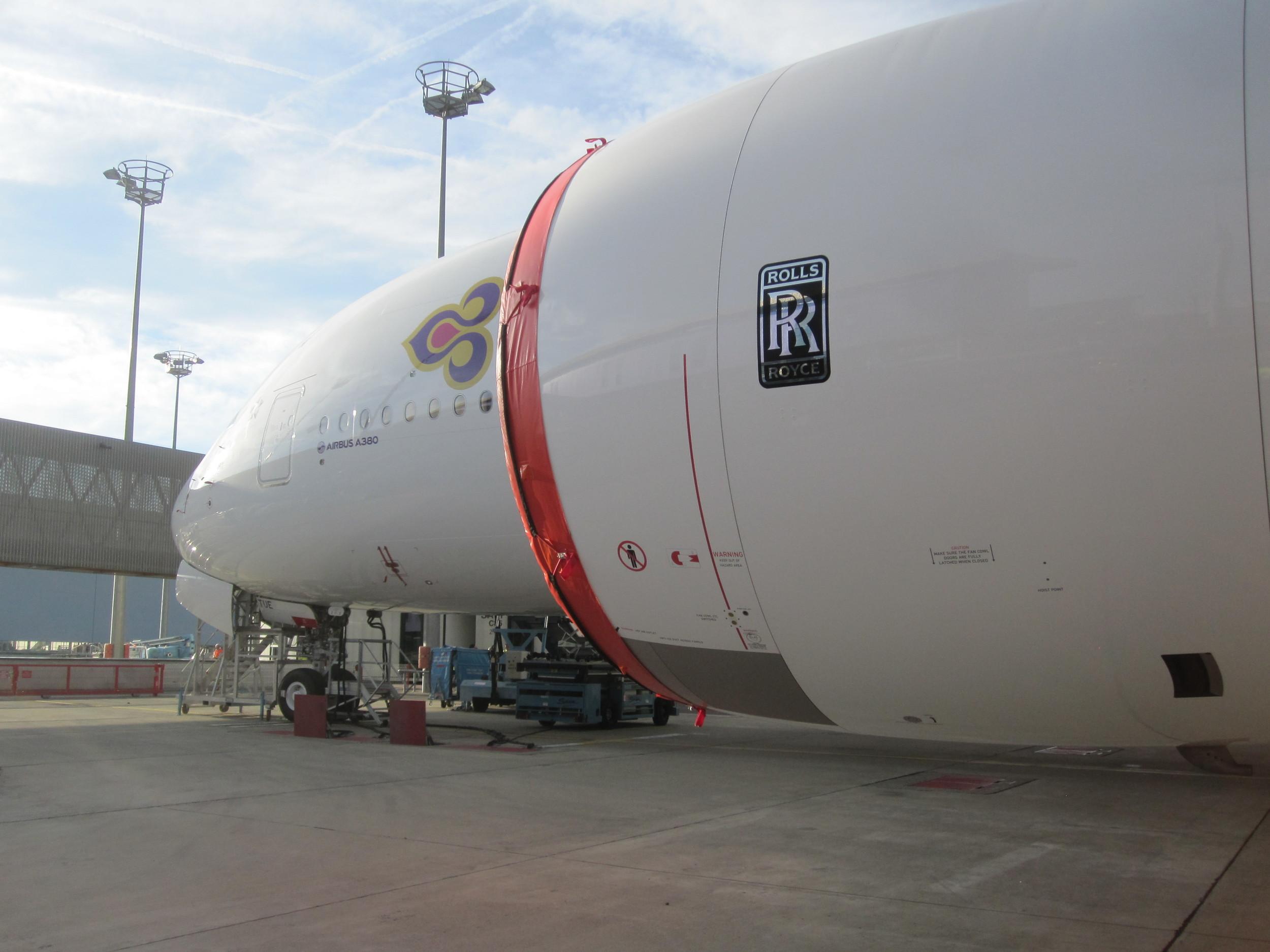 A shiny new Thai Airways Airbus A380-800