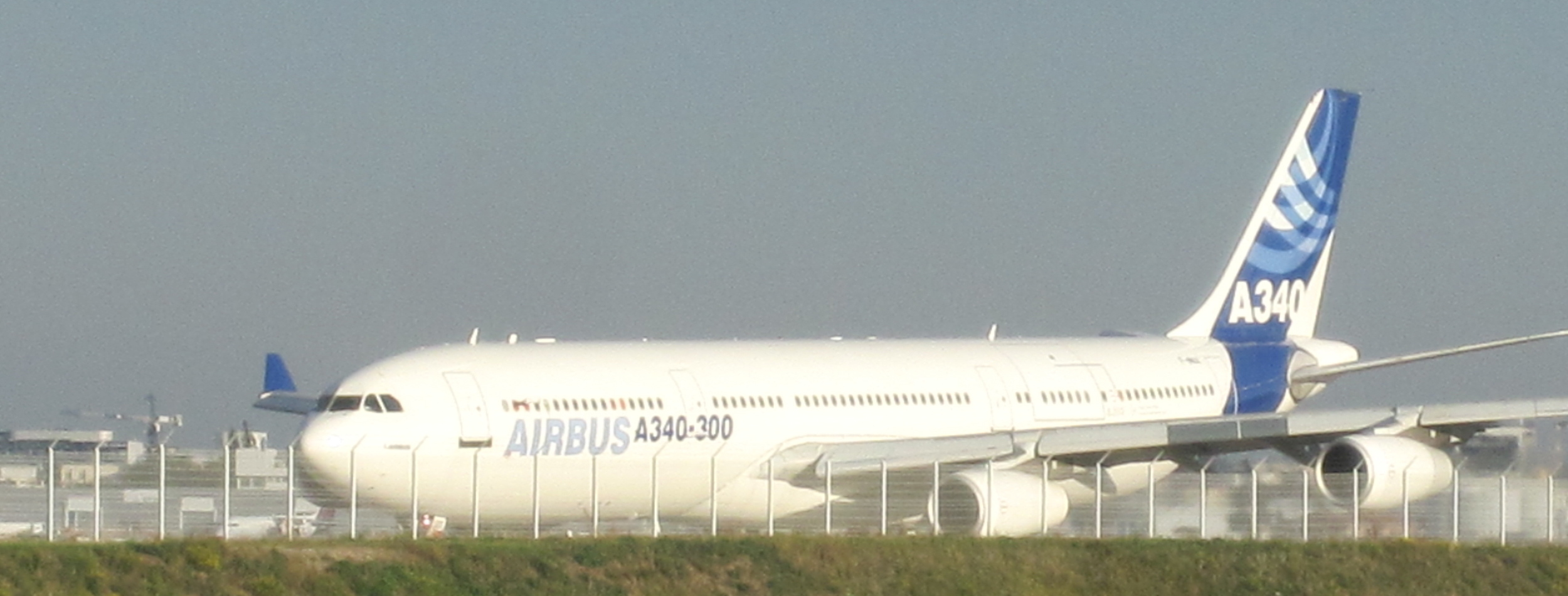 A sight that is becoming rarer and rarer, an A340-300! (and I still have not flown any of the type!)