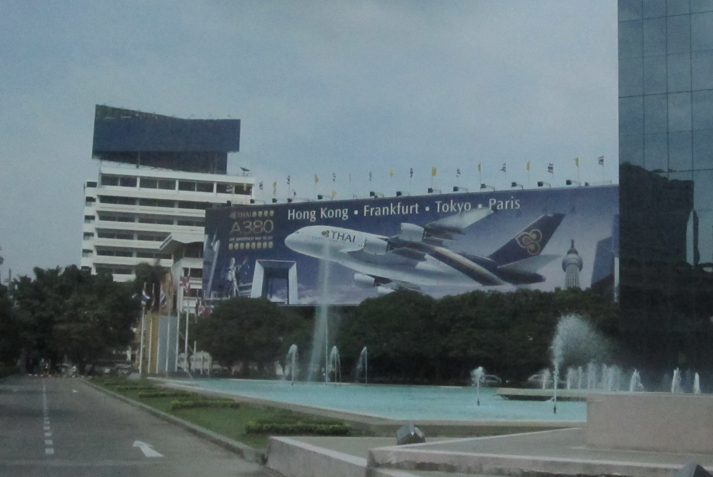 A familiar sight greeted us at Thai Airways' headquarters