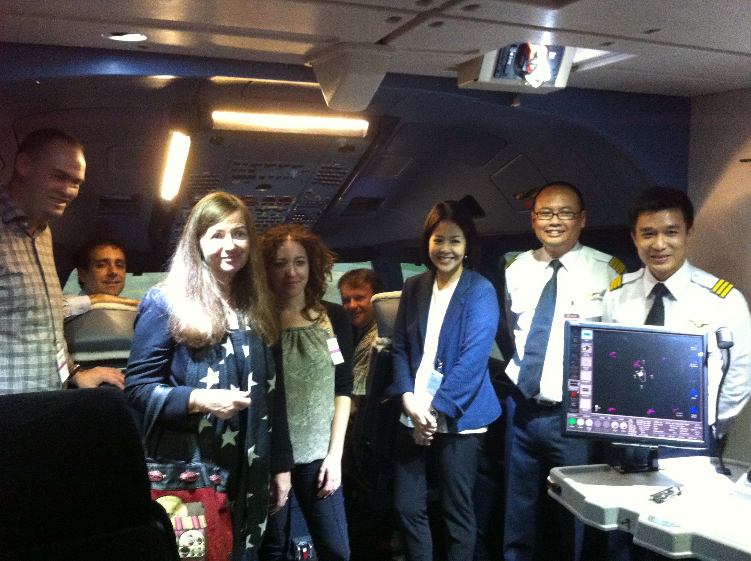 The crew for this special flight