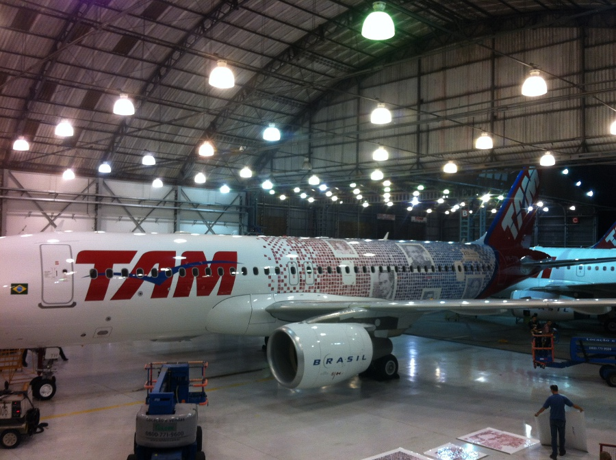 TAM's specially-decorated Airbus is going to be deployed on Brazilian domestic routes
