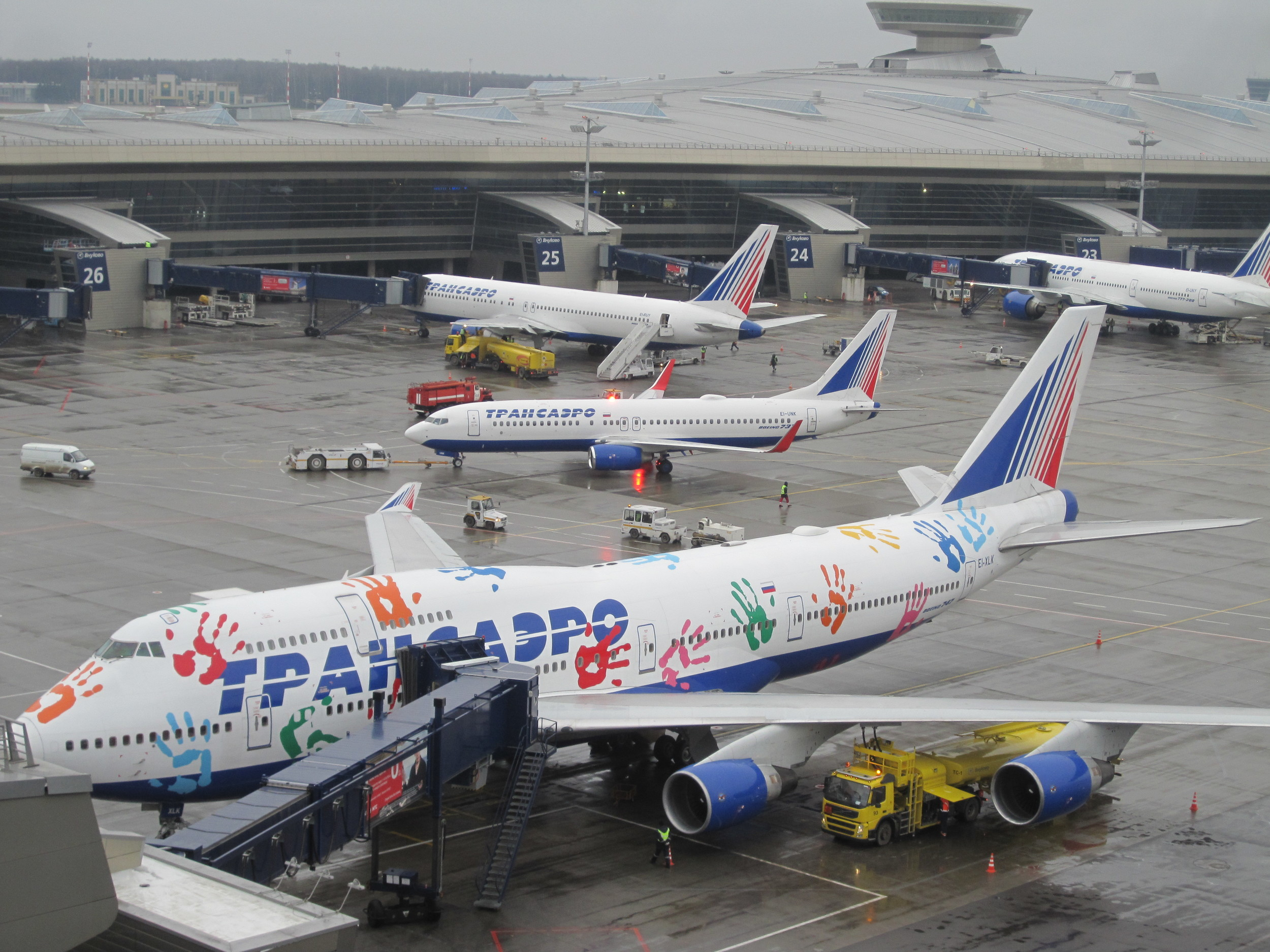 Transaero was second with 12,499,985 passengers, an increase of 21%