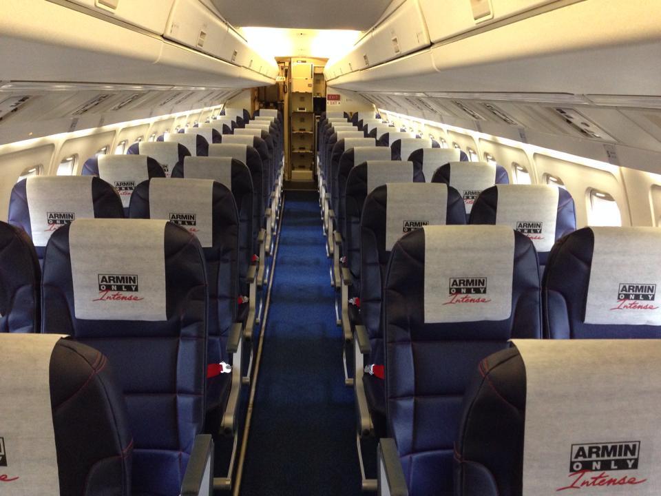 The interior has also got the Armin van Buuren World Tour touch, Picture: Denim Air