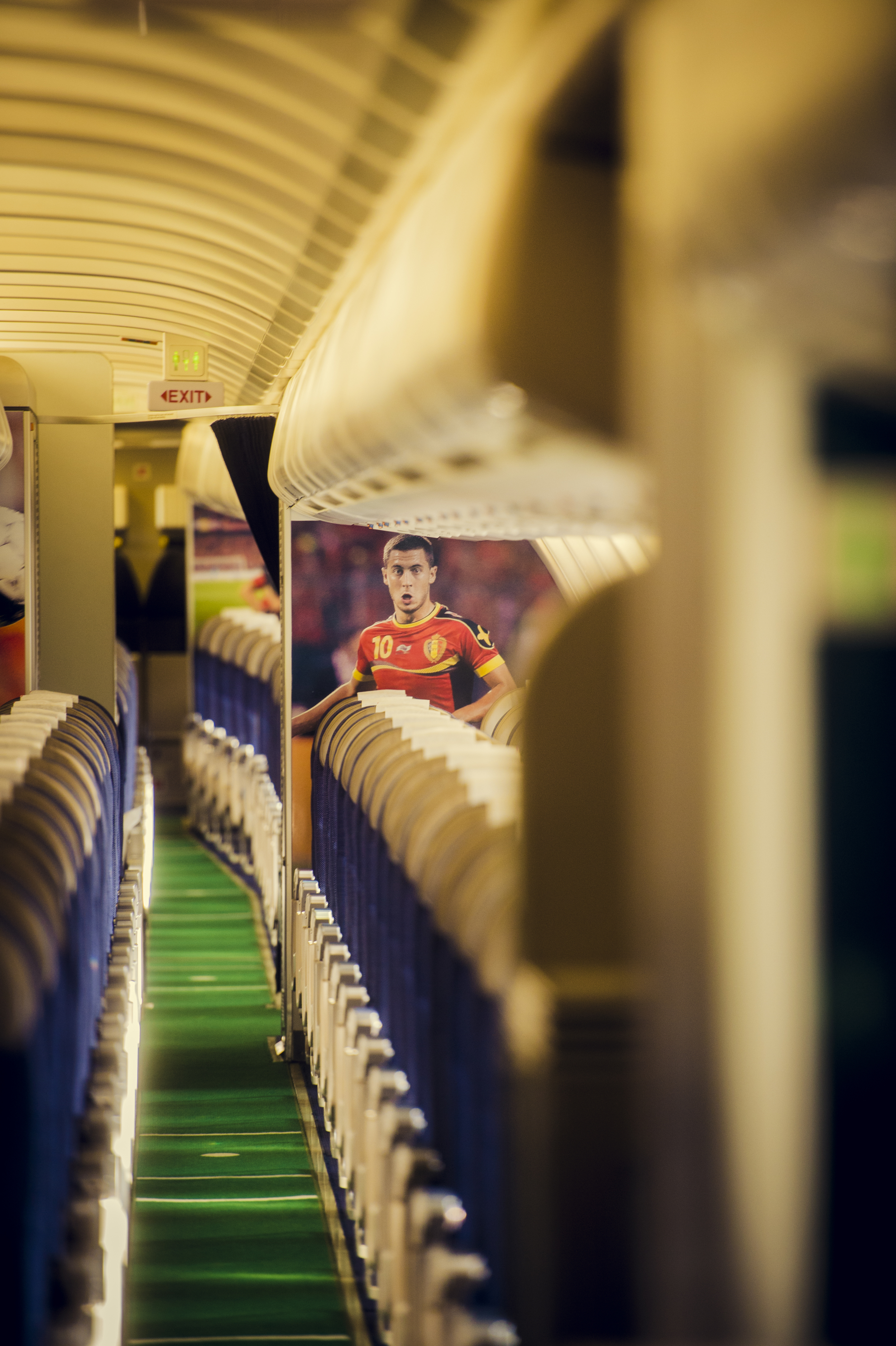 A conveniently decorated A330 interior. Picture: Brussels Airlines