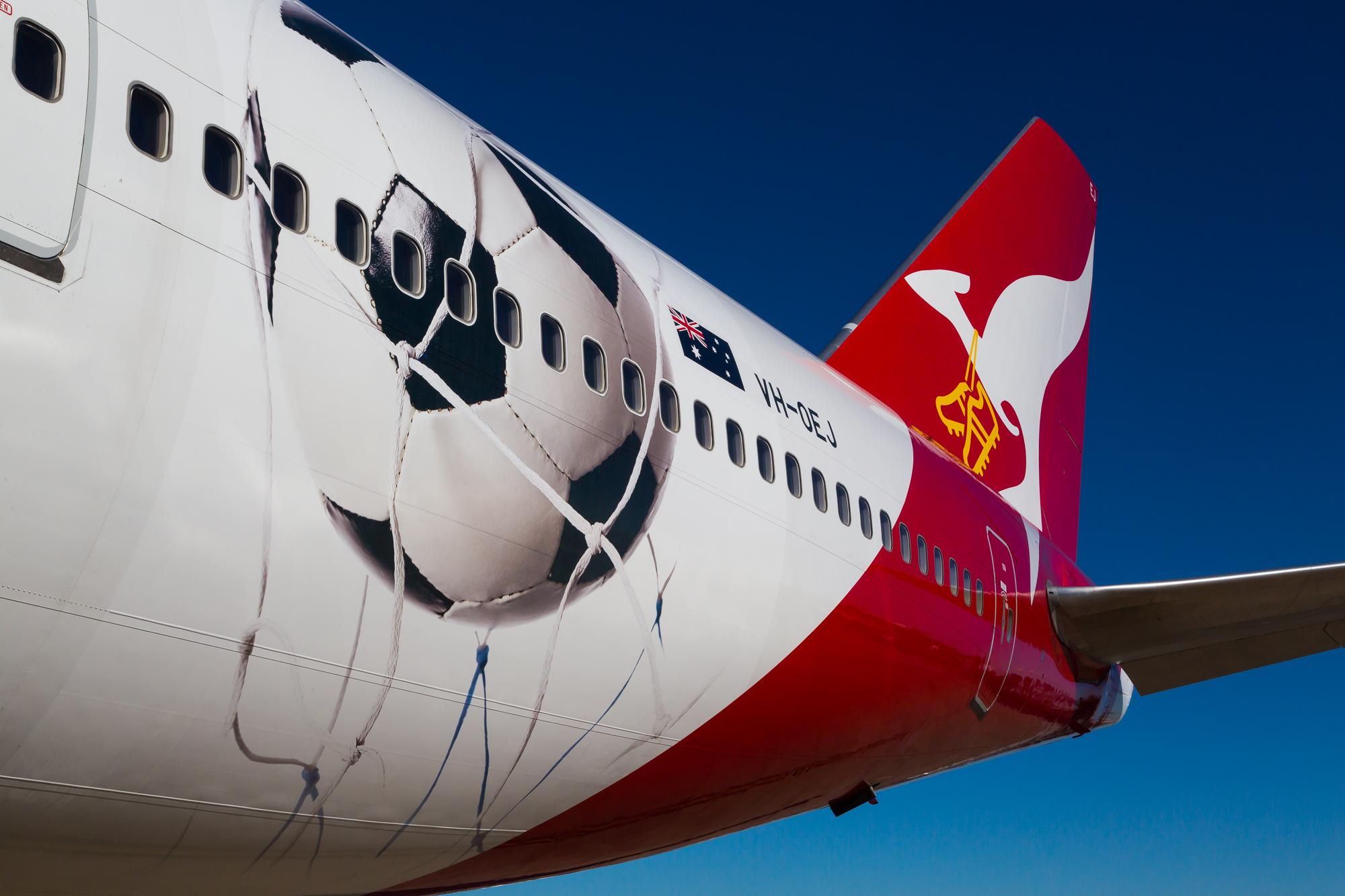 Football (soccer) might not be Australia's top sport, but Qantas seems to take it pretty seriously. Picture: Qantas