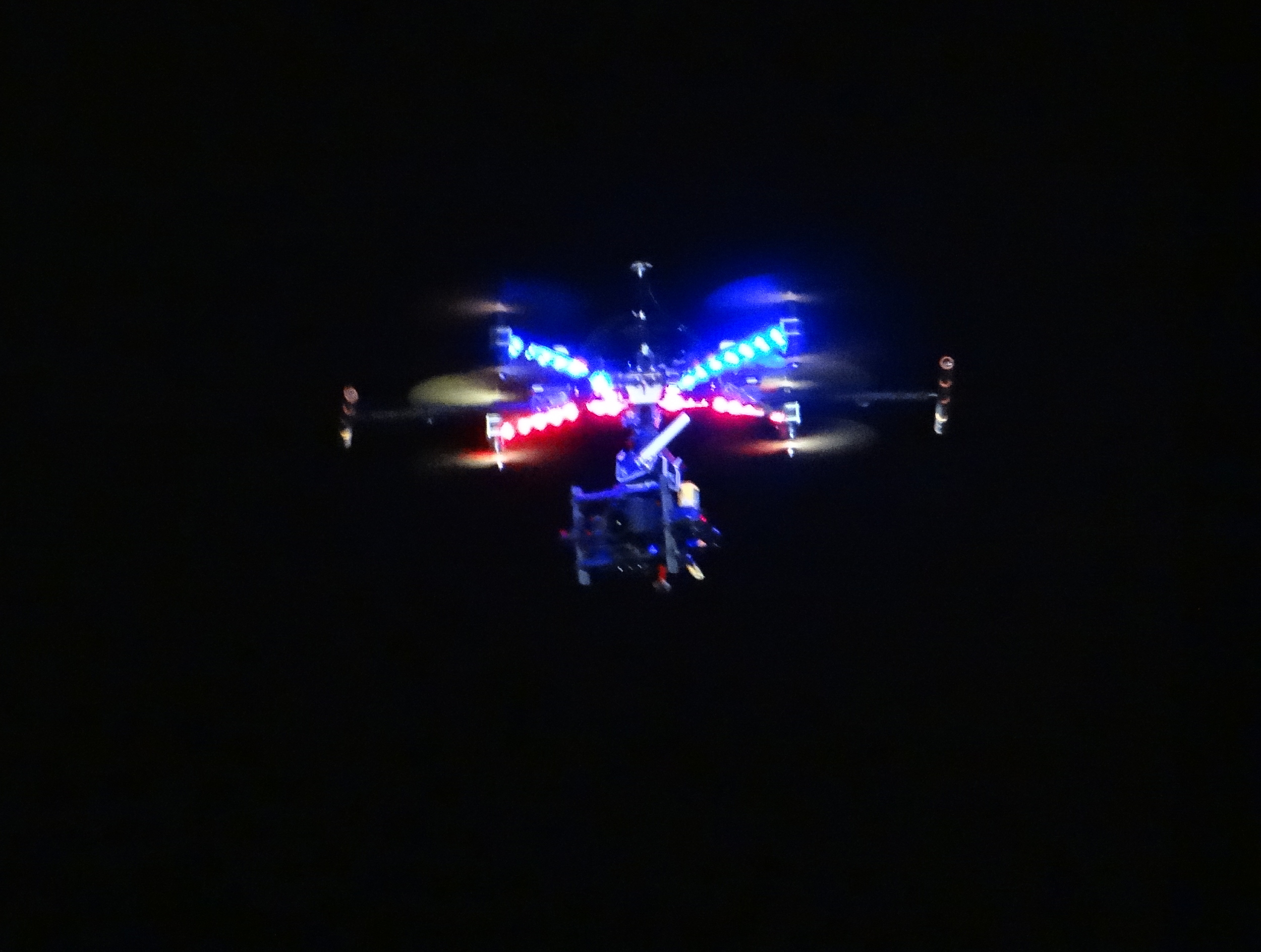 We were not alone covering the event! Airbus was flying this quadcopter drone above the site during the ceremony!