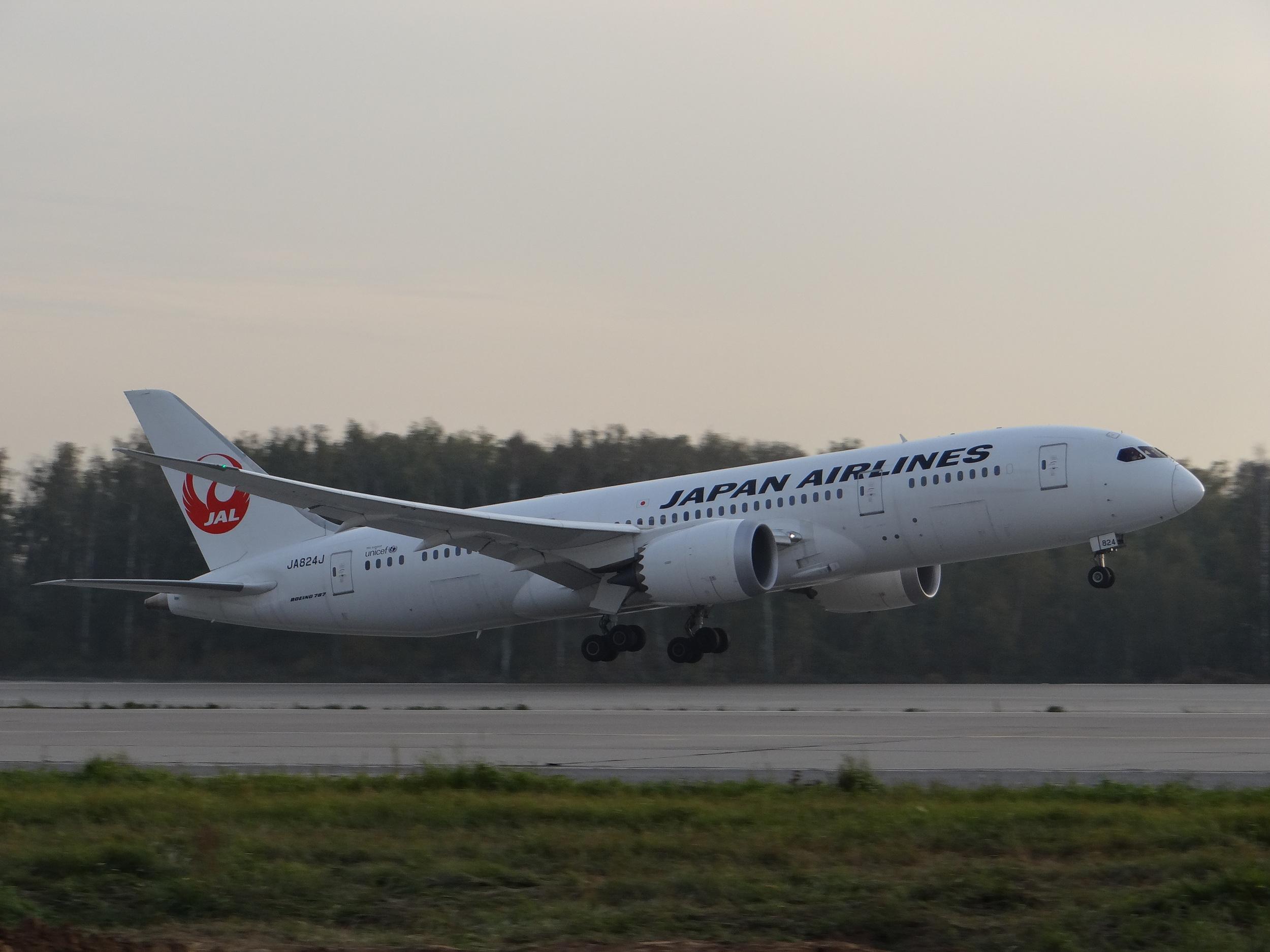 A Japanese Dreamliner heading home
