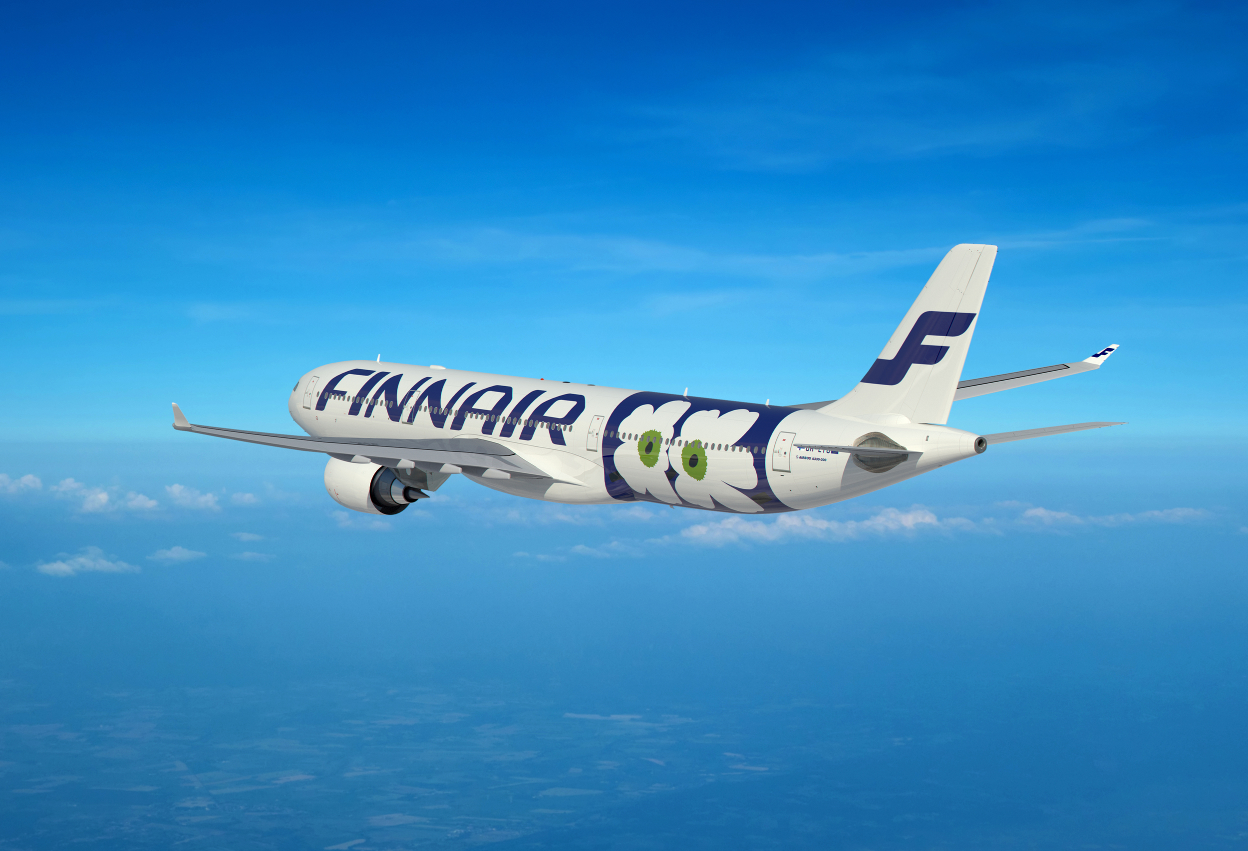 Somehow and improvement on Finnair's minimalist livery. Picture: Finnair