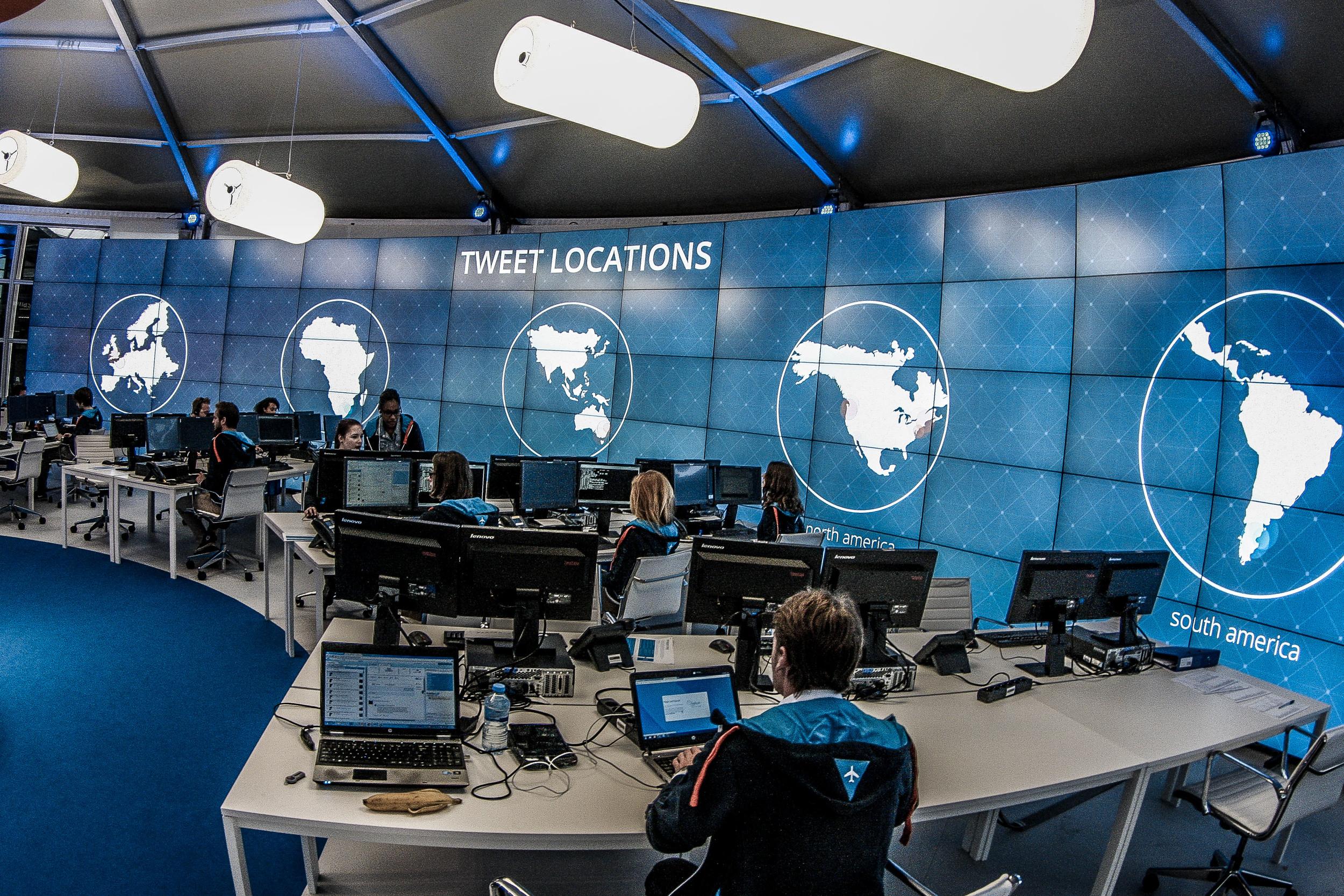 Not NASA, but KLM's social media center. Picture: KLM