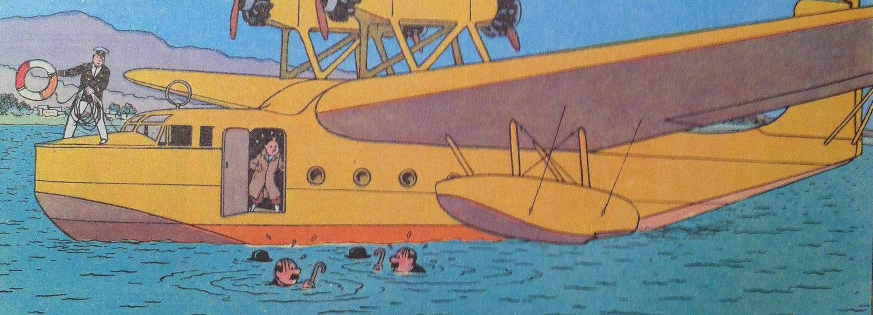 Tintin flying boat