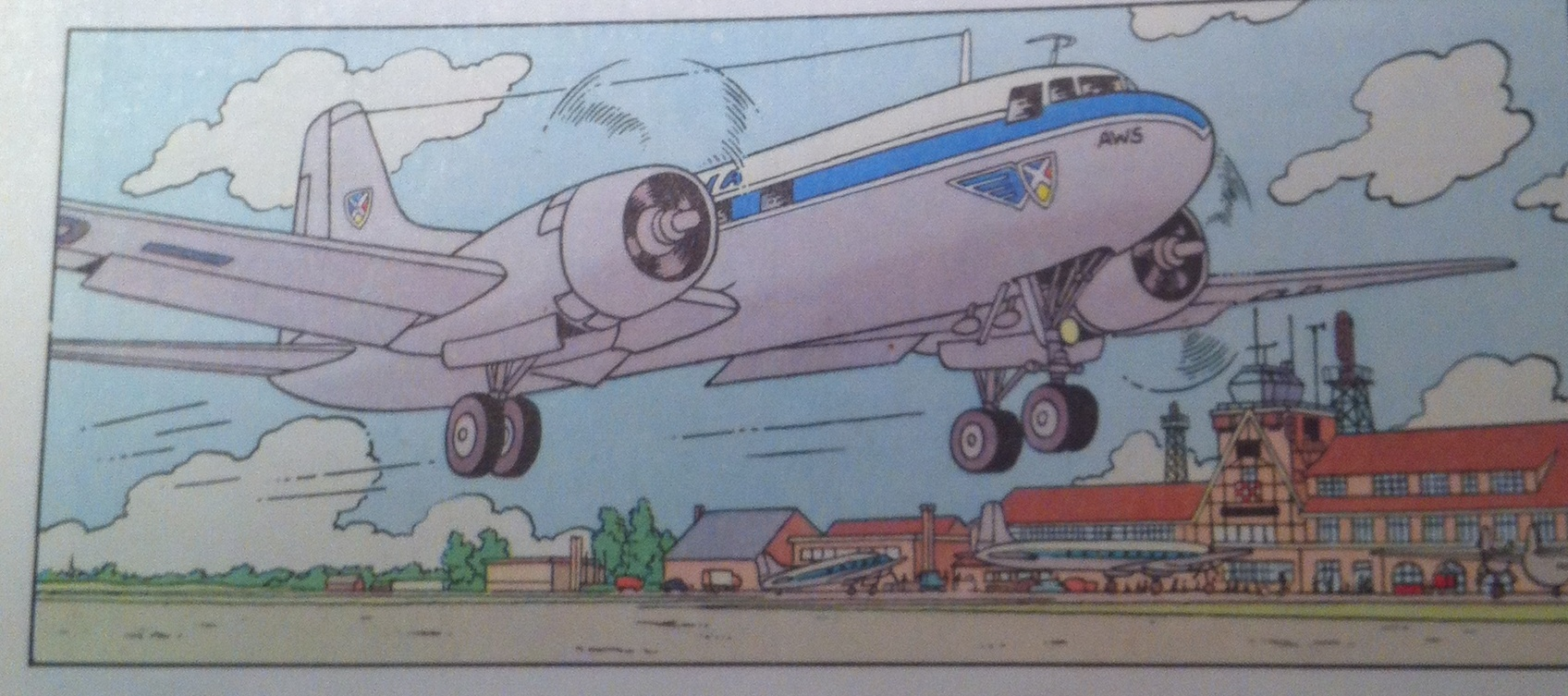 Being Belgian, Tintin's Sabena flight was not totally unexpected!