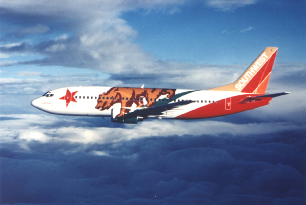 California One ( N609SW), 1995. Picture: Southwest Airlines