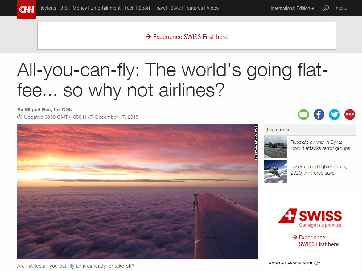 flat-fee models for airlines
