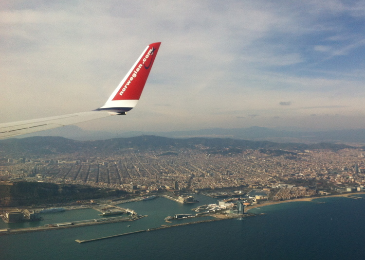 Quite a nice view before landing in Barcelona!