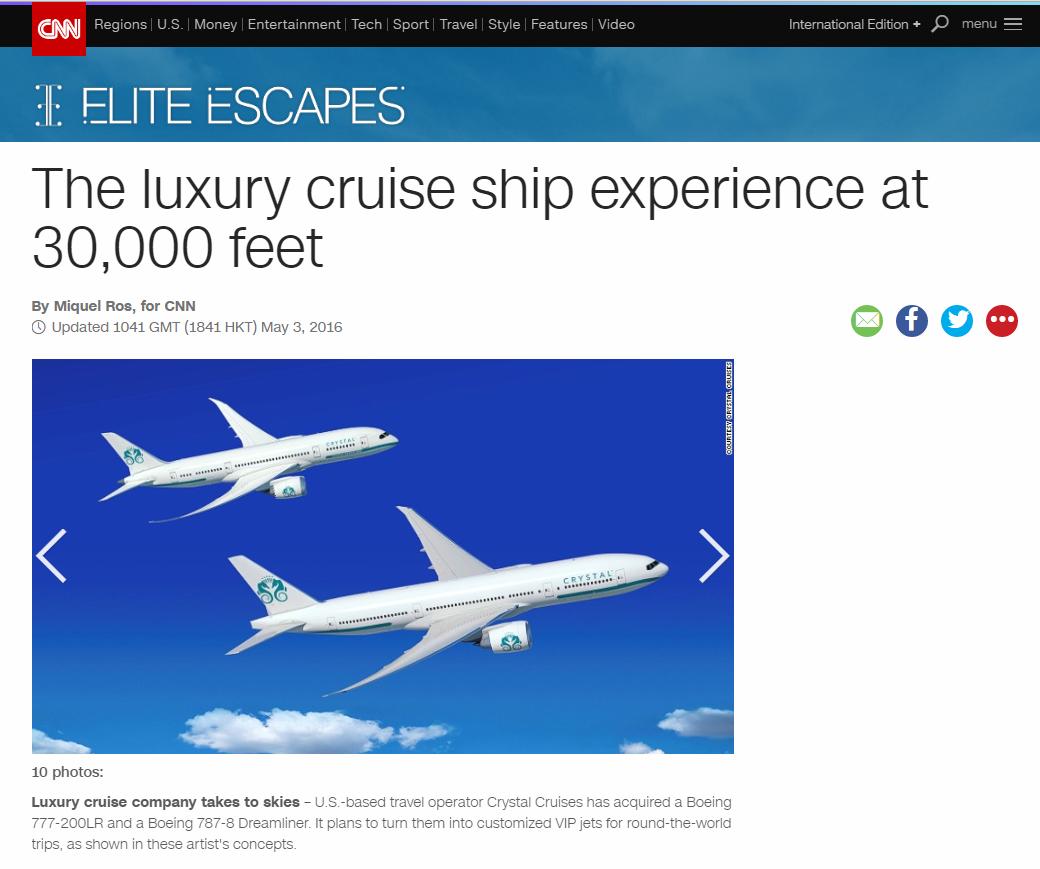 Crystal Cruises aircraft