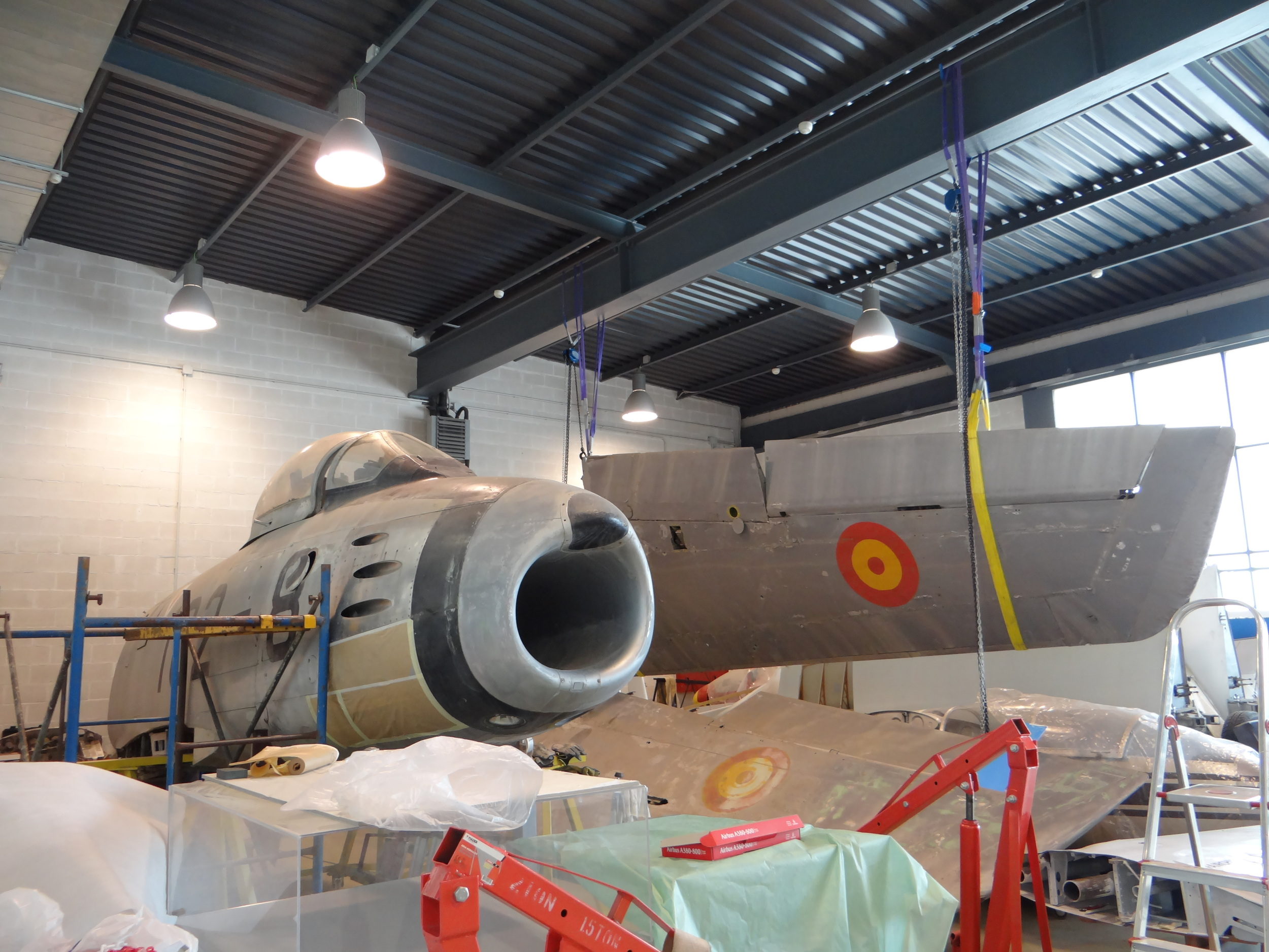 We could also see the workshop, where this ex-Spanish air force F-86 Sabre is undergoing restoration