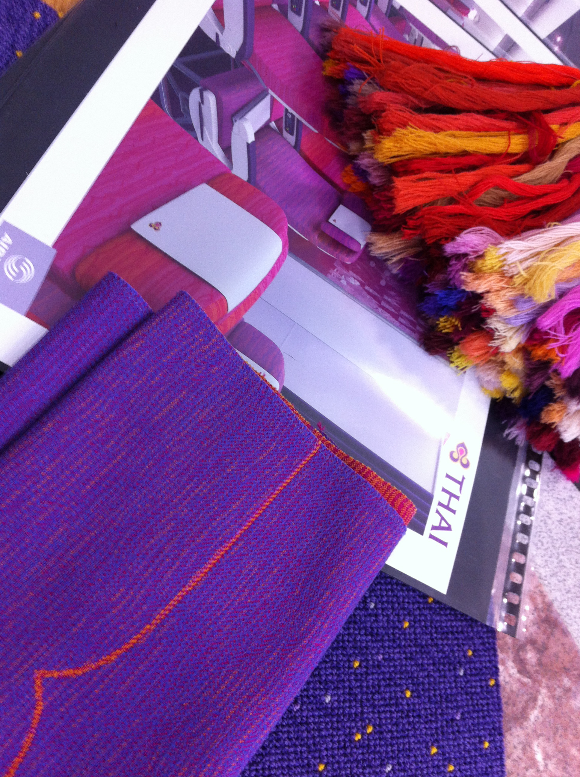 Colour schemes for Thai Airways passenger cabin