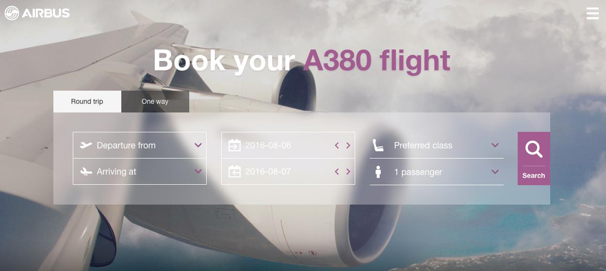 Airbus A380 website