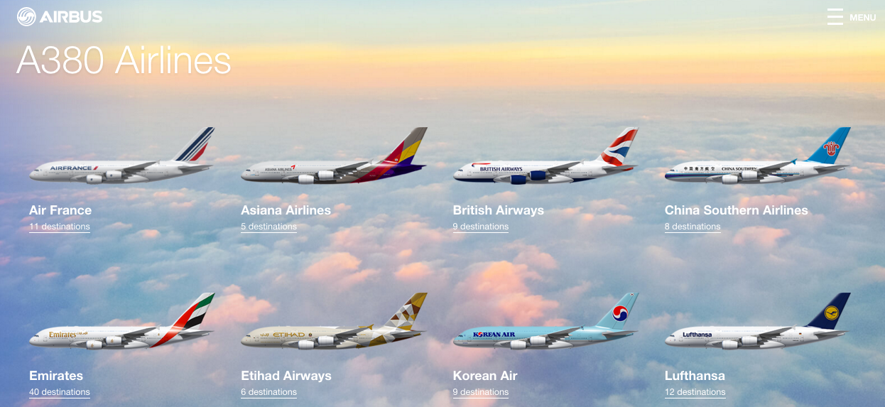 Airbus A380 airlines