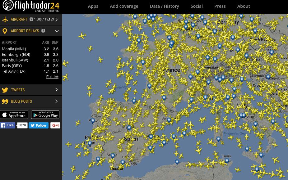 flightradar24 screen