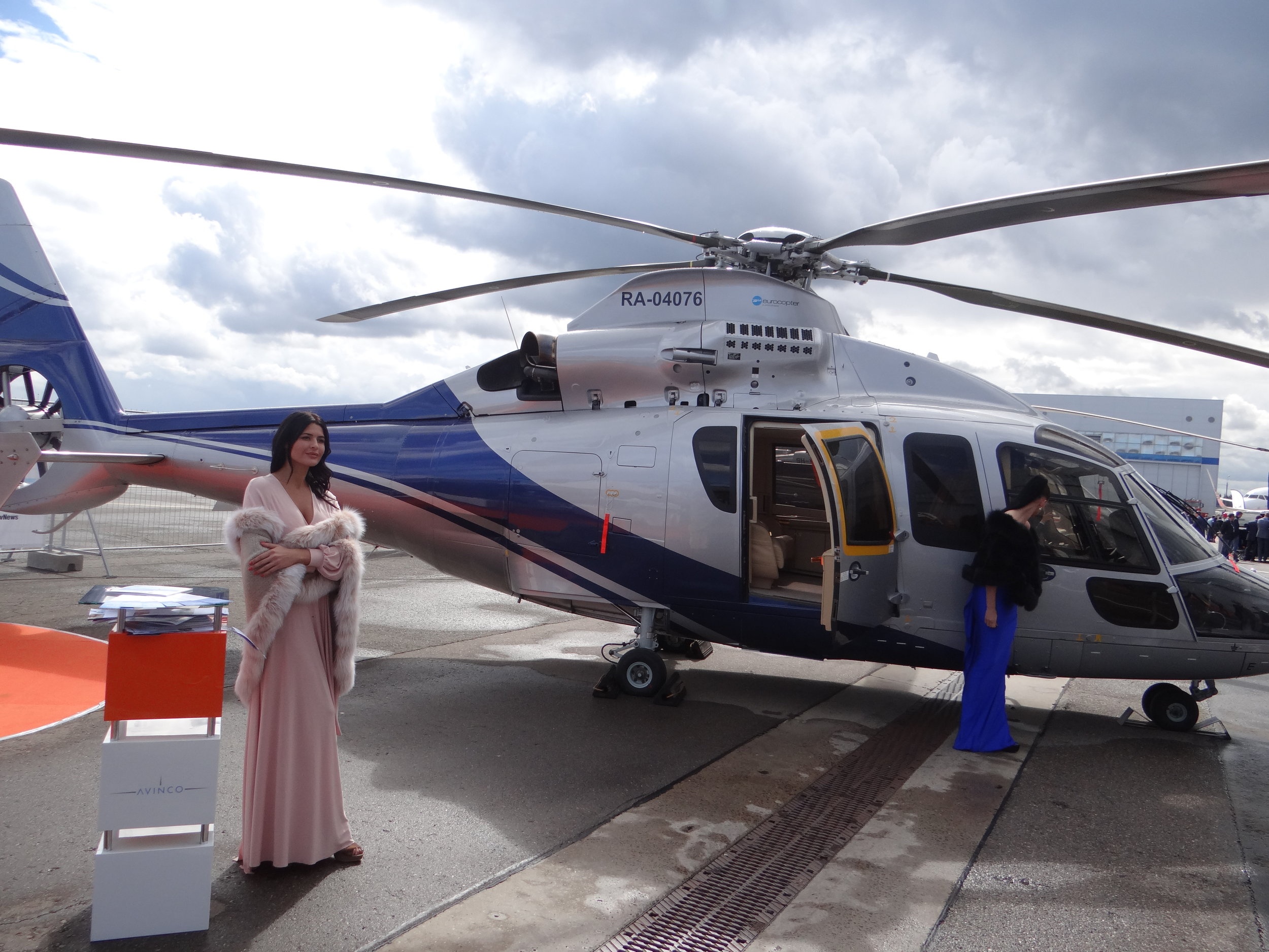 There were also helicopters at Jet Expo - with Airbus Helicopters showcasing their upmarket models (this one comes with golden seat-belt buckles!) with some local support