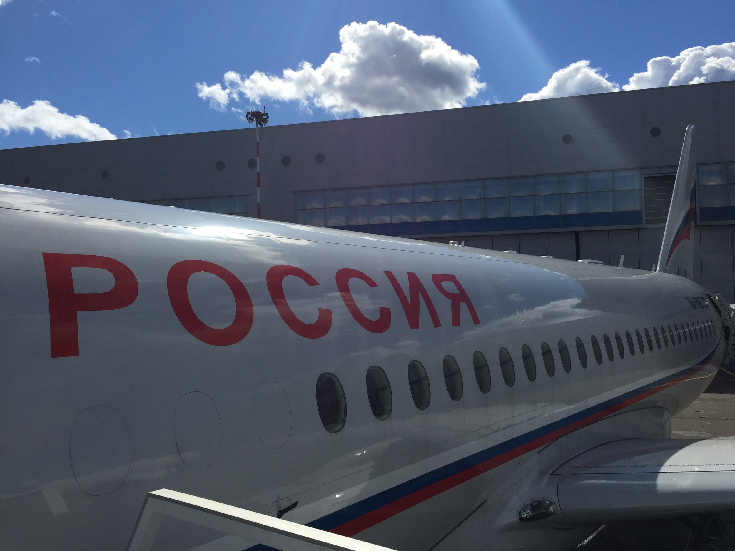 The Superjet from another angle...and the Sun that started to shine after a rainy morning!